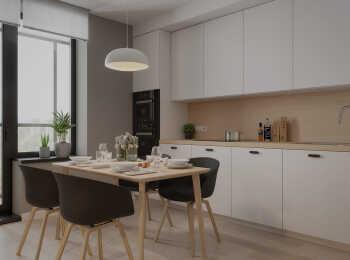 Пример отделки квартиры в стиле Аквамарин
